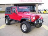 2006 Flame Red Jeep Wrangler Unlimited Rubicon 4x4 #27169246