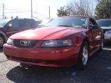 2003 Torch Red Ford Mustang V6 Convertible #27169065