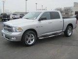 2010 Bright Silver Metallic Dodge Ram 1500 Big Horn Crew Cab 4x4 #27169388