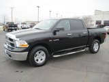2010 Brilliant Black Crystal Pearl Dodge Ram 1500 Big Horn Crew Cab 4x4 #27169390