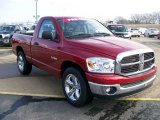2008 Inferno Red Crystal Pearl Dodge Ram 1500 ST Regular Cab #27169277