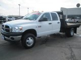2007 Bright White Dodge Ram 3500 ST Quad Cab 4x4 Chassis #27169409