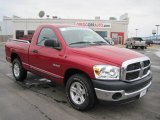 2008 Inferno Red Crystal Pearl Dodge Ram 1500 TRX Regular Cab #27169428