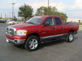 2008 Inferno Red Crystal Pearl Dodge Ram 1500 Big Horn Edition Quad Cab #27169429
