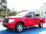 2010 Vermillion Red Ford F150 STX Regular Cab #27168861
