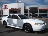 2000 Crystal White Ford Mustang V6 Coupe #27234947