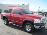 2008 Inferno Red Crystal Pearl Dodge Ram 1500 SXT Regular Cab 4x4 #27169460