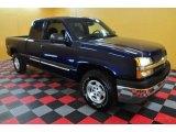 2003 Dark Blue Metallic Chevrolet Silverado 1500 LS Extended Cab 4x4 #27169744