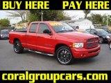 2004 Flame Red Dodge Ram 1500 Laramie Quad Cab #27170032