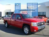 2008 Victory Red Chevrolet Silverado 1500 LT Extended Cab 4x4 #27235237
