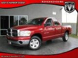 2007 Inferno Red Crystal Pearl Dodge Ram 1500 SLT Quad Cab #27235034