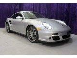 2007 Arctic Silver Metallic Porsche 911 Turbo Coupe #27235314