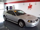 2001 Silver Metallic Ford Mustang V6 Coupe #27234922