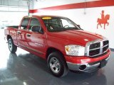 2007 Flame Red Dodge Ram 1500 SLT Quad Cab #27234934