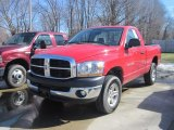 2006 Flame Red Dodge Ram 1500 SLT Regular Cab 4x4 #27325275