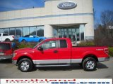 2010 Vermillion Red Ford F150 XLT SuperCab 4x4 #27324723