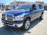 2008 Patriot Blue Pearl Dodge Ram 1500 Laramie Quad Cab #27325116