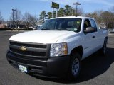2008 Summit White Chevrolet Silverado 1500 Work Truck Extended Cab #27324607