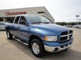 2003 Patriot Blue Pearl Dodge Ram 1500 SLT Quad Cab 4x4 #27235563