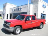 2005 Victory Red Chevrolet Silverado 1500 LS Extended Cab 4x4 #27324935