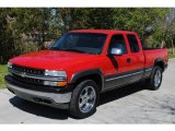 2000 Victory Red Chevrolet Silverado 1500 LS Extended Cab 4x4 #27324945