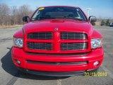 2003 Flame Red Dodge Ram 1500 SLT Quad Cab 4x4 #27325196