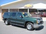 2005 Dark Green Metallic Chevrolet Silverado 1500 Z71 Crew Cab 4x4 #27325197