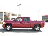 2007 Sport Red Metallic Chevrolet Silverado 1500 LT Z71 Crew Cab 4x4 #27414026
