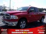 2010 Inferno Red Crystal Pearl Dodge Ram 1500 Big Horn Quad Cab #27413845