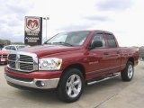 2007 Inferno Red Crystal Pearl Dodge Ram 1500 Big Horn Edition Quad Cab #27440531