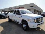 2008 Bright White Dodge Ram 3500 Laramie Quad Cab 4x4 Dually #27440634