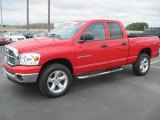 2007 Flame Red Dodge Ram 1500 Big Horn Edition Quad Cab 4x4 #27449472