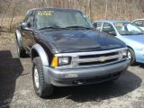 1996 Onyx Black Chevrolet S10 LS Extended Cab 4x4 #27449134