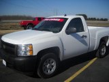 2008 Summit White Chevrolet Silverado 1500 Work Truck Regular Cab #27449491