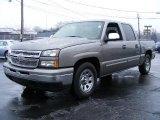 2006 Graystone Metallic Chevrolet Silverado 1500 LS Crew Cab #27448999