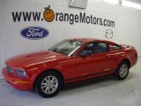 2005 Torch Red Ford Mustang V6 Deluxe Coupe #27449172