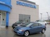 2007 Atomic Blue Metallic Honda Civic EX Coupe #27449012