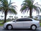 2007 Alabaster Silver Metallic Honda Civic Hybrid Sedan #27449046