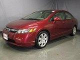 2007 Tango Red Pearl Honda Civic LX Sedan #27499205