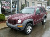 2002 Dark Garnet Red Pearlcoat Jeep Liberty Sport 4x4 #27499207