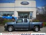 2007 Blue Granite Metallic Chevrolet Silverado 1500 LT Extended Cab 4x4 #27498935