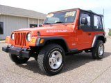 2006 Impact Orange Jeep Wrangler X 4x4 #27544832