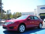 2010 Sangria Red Metallic Ford Fusion SE #27544164