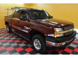 2003 Dark Carmine Red Metallic Chevrolet Silverado 2500HD LT Crew Cab 4x4 #27544679