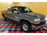 2001 Medium Charcoal Gray Metallic Chevrolet Silverado 1500 LS Crew Cab 4x4 #27544680