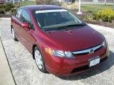 2007 Tango Red Pearl Honda Civic LX Sedan #27544873
