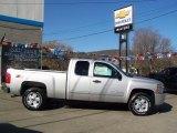 2010 Sheer Silver Metallic Chevrolet Silverado 1500 LT Extended Cab 4x4 #27544046