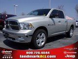 2010 Light Graystone Pearl Dodge Ram 1500 Big Horn Quad Cab #27544316