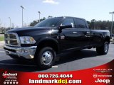 2010 Brilliant Black Crystal Pearl Dodge Ram 3500 Laramie Crew Cab 4x4 Dually #27544328
