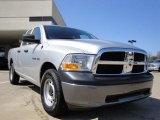 2010 Bright Silver Metallic Dodge Ram 1500 ST Quad Cab 4x4 #27544736